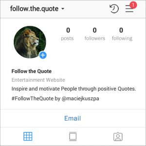 The Beginnig of Follow The Quote