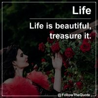 Life is beautiful, treasure it.