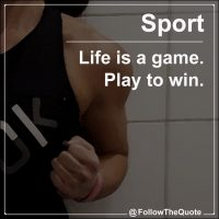 Life is a game. Play to win.