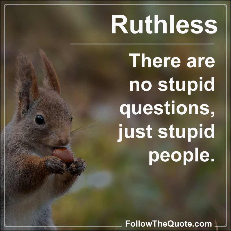 Slogan: There are no stupid questions, just stupid people.