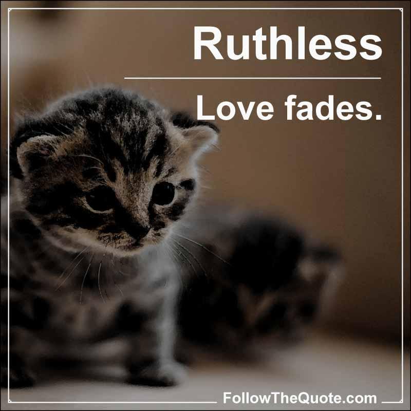 Slogan: Love fades.